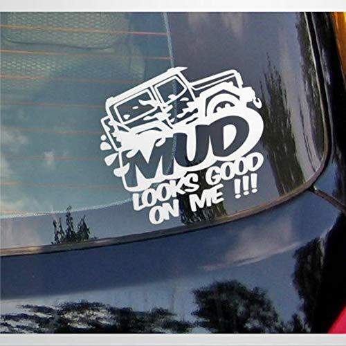 DONL9BAUER Mud Looks Good on Me! Pegatinas de vinilo para coche auto rayado divertido viaje auto fuera de carretera calcomanía para ventana para portátil funda de viaje vaso puerta parachoques equipaje
