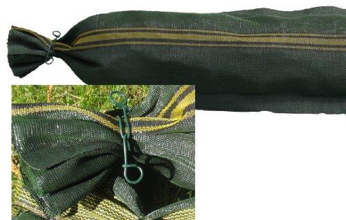 100 Silosäcke 25cm x 100cm mit Griff und Bindedraht Silosandsack Sandsack