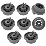 Yorgewd 8-Pack Dishwasher Lower Rack Wheel Replacement 165314 Fit for Bosch Kenmore & Neff Siemens Dishwashers