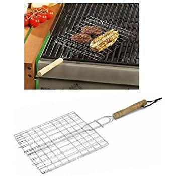 les colis noirs lcn Double Grille de Barbecue Carrée 20 x 20