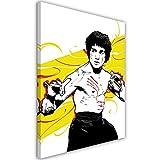 Feeby. Cuadro en Lienzo - 1 Parte - 40x50 cm, Imagen impresión Pintura decoración Cuadros de una Pieza,Bruce Lee 4 - Nikita Abakumov, PELÍCULA, Amarillo, Luchador