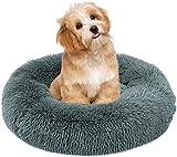 Rundes Plüsch Haustierbett, Klein Hund Bett, Waschbar Weich Katzenbett, Flauschig Hundesofa,...