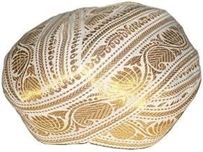 Traditional Mysore Peta Turban South Indian Weddinh Headwear/South Indian Turban Pe White