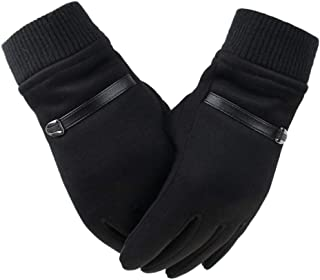 Winter Men's Gloves Suede Keep Warm Touch Screen Windproof Driving Guantes Thick Cashmere Anti Slip Outdoor Male Leather Gloves Men's Gloves