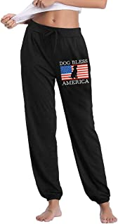 Dog Bless America Womens Comfy Long Trousers for Yoga Running Sporting