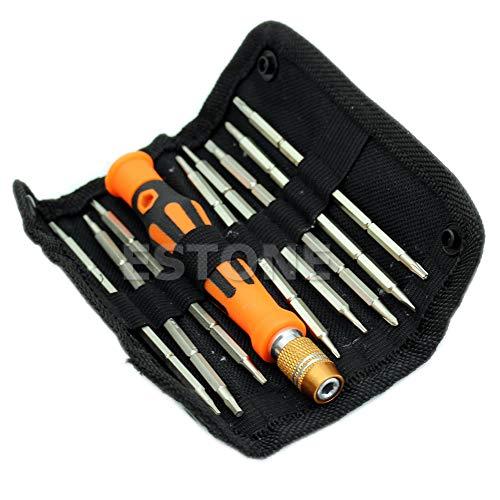 JOYKK - Kit Tournevis pour Outils de réparation de Conception 9 Voies 1 In1 à 2 Voies pour réparation d'appareils électroniques - Argent