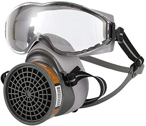 1Set Half Face Gasmaske mit Goggles Chemical Staubmaske Filter Atembeatmungsgeräte für Malerei Spray Schweißen Industrie Zubehör