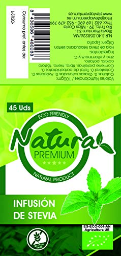 Natura Premium Stevia Infusion Eco, Pack de 45