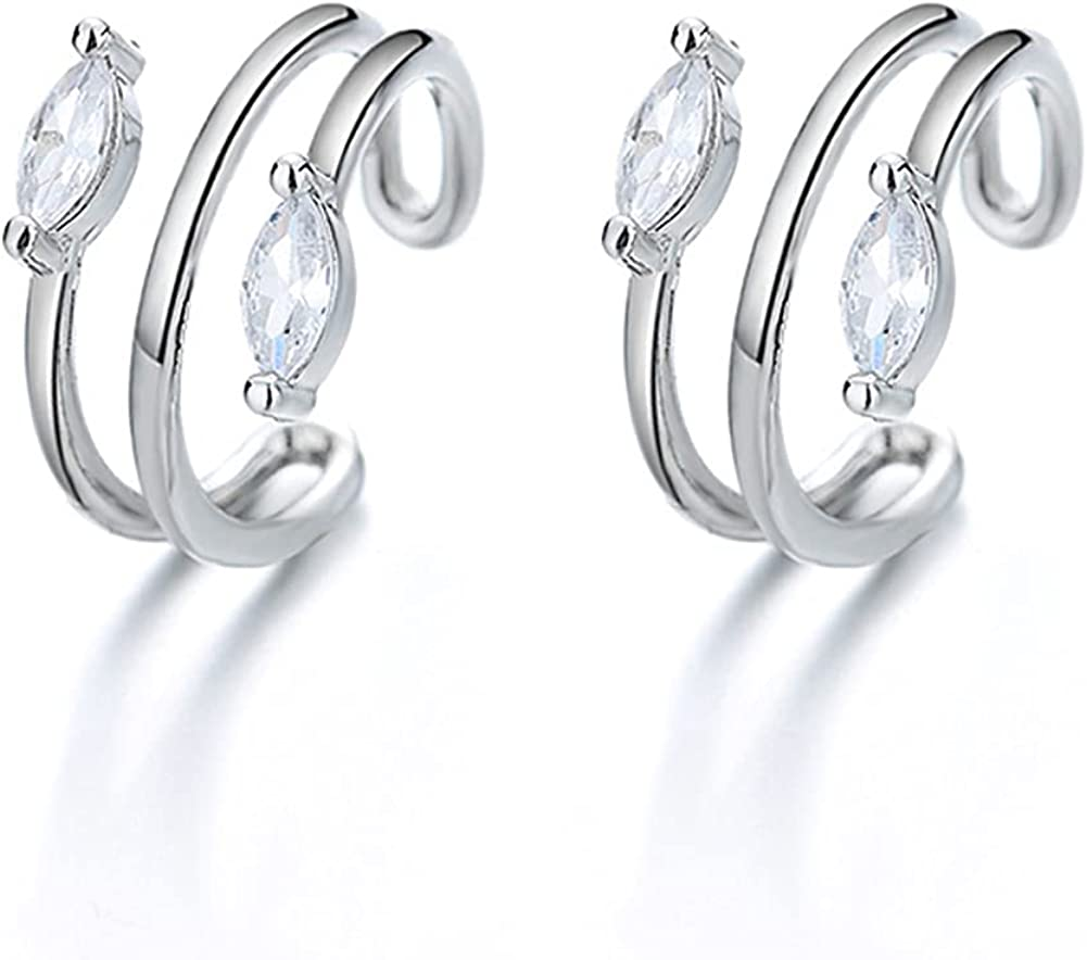 Women Ear Limited Special Price Cuff Year-end gift Earrings for Clip Cartilage Piercing Non