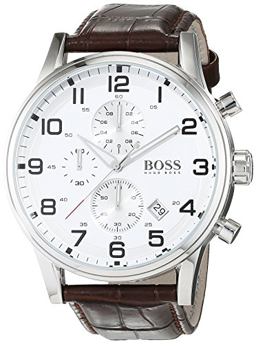 Hugo Boss Aeroliner 1512447 - Elegante cronografo da uomo con cassa in...