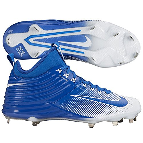Nike Lunar Trout 2 Men Mike Baseball Cleats (12 M US, Royal/White)