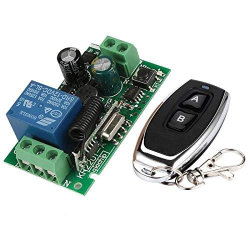 YLX Universal 433MHz AC 220V Módulo de Receptor de Interruptor de Control Remoto Inalámbrico + RF 433MHz Transmisor Mando a Distancia (1+1)