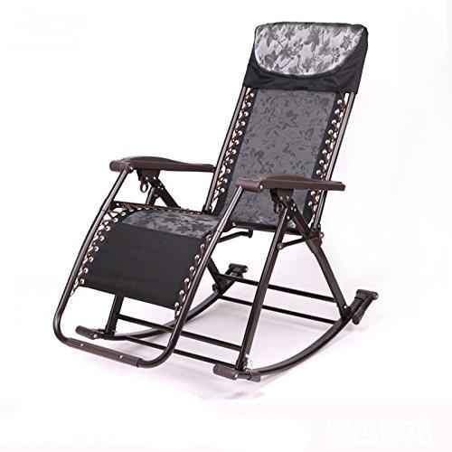 Balcon dans les personnes âgées Chaises à bascule Chaise longue Chaises pliantes Pause déjeuner Chaises Chaise ancienne Chaises en rotin (Couleur : D)