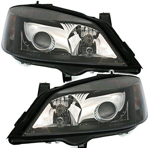 AD Tuning DEPO Halogen Scheinwerfer Set Klarglas Schwarz mit Projektorlinse