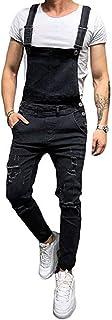 Annstar Jeans Mens Denim Pants Dungarees Stonewash Dungaree Bib Overalls Worker Pants Jumpsuits Trousers