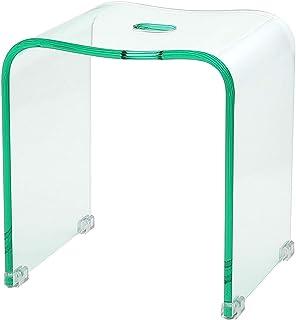 クーアイ(Kuai) アクリル バスチェア 風呂椅子 単品 Lサイズ 高さ35cm (クリアグリーン)