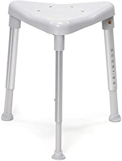 Etac Edge Shower Stool Stable and Safe Three Legged (Low, Grey)