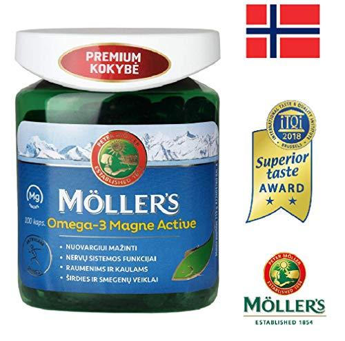 Möller\'s Omega-3 Magne Active 100 Kapseln Hochwertiges Fischöl Für Aktive Menschen, Hergestellt In Norwegen