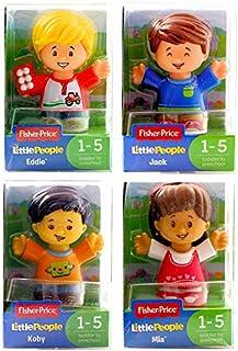 Little People Fisher-Price Set de 4 figuras – Koby, Jack, Mia & Eddie – Set de 2