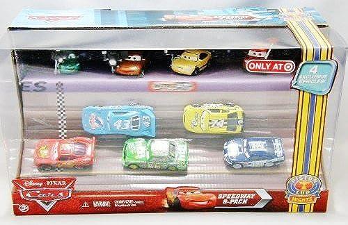 DISNEY CARS - Speedway 9 Spielzeugautos davon 4 Exclusive - aus USA