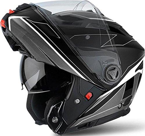 Airoh Modulare Helm Phantom - Spirit - Black/White L Black Matt