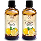 Zitronenöl 200ml - 2x100ml - Citrus Limon - Italien - 100% Reines Zitronen Öl für Guten Schlaf -...