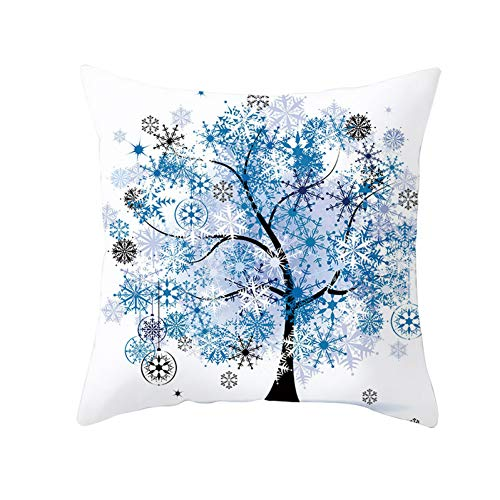LHOKAZ Bunter Baum-Druckkissenbezug Bunter Baum-Polyester-Dekorativer Kissenbezug Wurfs-Kissenbezug Für Sofa-24