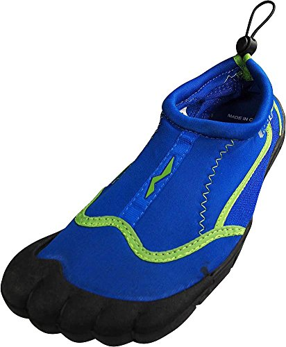 NORTY - Womens Skeletoe Beach Shoes for Pool, Beach Surf, Snorkeling, Exercise Slip on Sock, Royal, Lime 38865-7B(M) US