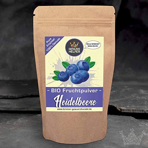 Bio Fruchtpulver Heidelbeer - Heidelbeerpulver 75 Gramm - ausgewogene Ernährung - Smoothies - Shakes - Müsli - Bowls