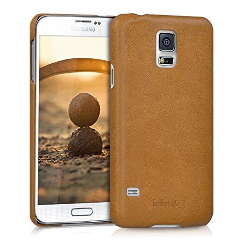 kalibri Custodia in Pelle Compatibile con Samsung Galaxy S5 / S5 Neo - Back Cover Protettiva Case Posteriore