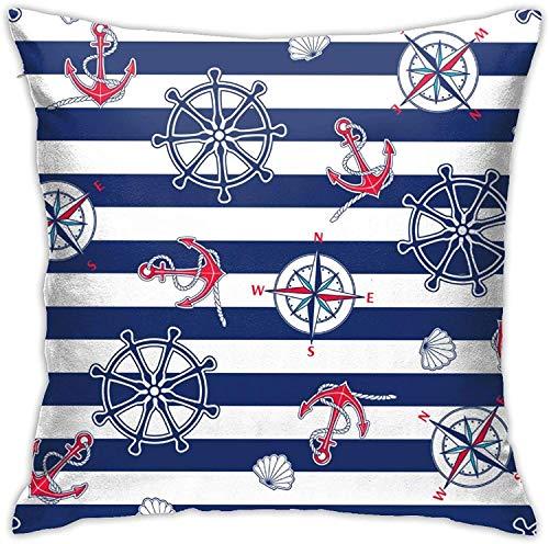 MODORSAN Cover Seamless Marine Throw Home Bedroom Home Decor Square 18x18 Inches Pillowcase