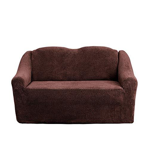 Mixibaby Sofabezug Sofahusse Sesselbezug Sitzbezug Sesselüberwurf Husse 2 er Sofa Wellsoft, Farbe:braun