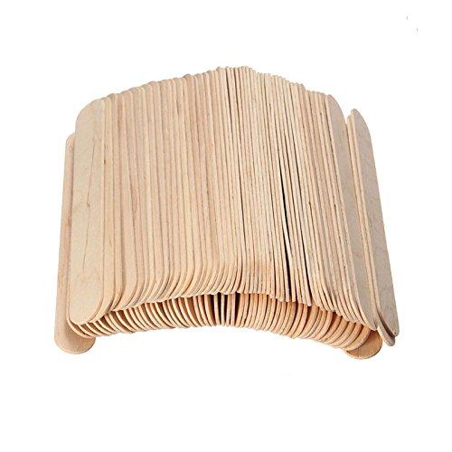 Takestop® Set mit 100Stück Spachteln aus Holz, geeignet als Mundspatel oder zum Verstreichen von Wachs zur Haarentfernung