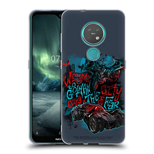 Official Batman: Arkham Knight Welcome To Gotham Graphics Soft Gel Case Compatible for Nokia 7.2