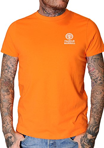 Franklin and Marshall - Camiseta de manga corta, color naran