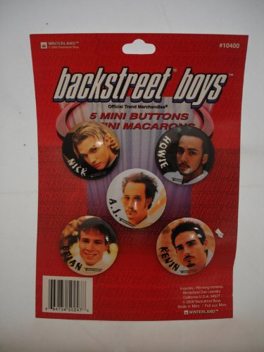Compare Textbook Prices for Backstreet Boys 5 Mini Buttons- Pins  ISBN 0664734502478 by
