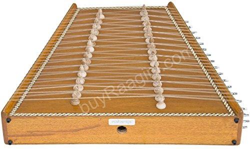 Maharaja klassischen indischen Santoor/Holzschläger–Kaufen Natürliche Farbe–31Notizen–93Saiten, Box (pdi-bif)