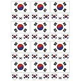 SpringPear 12x Temporär Tattoo von Flagge Korea für Internationale Wettbewerbe Olympischen Spiele Weltmeisterschaft Wasserfeste Fahnen Tätowierung Flaggenaufkleber WM Fan Set (12 Pcs)