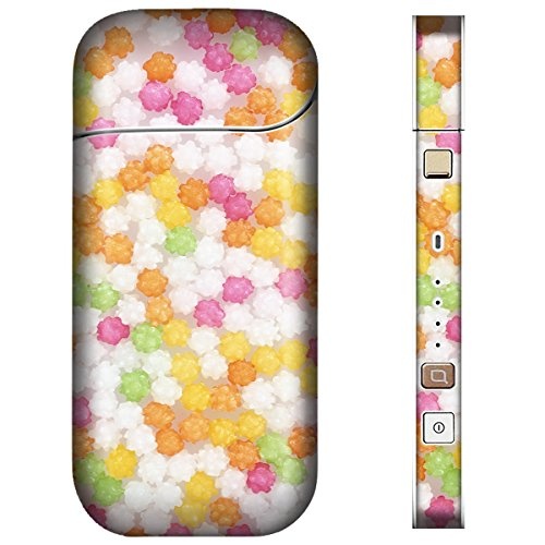 iQOS アイコス スキンシール 【 チョコ/お菓子/フルーツ 金平糖 柄 】表面・裏面・側面セット 2.4Plus(2017年発売) 対応