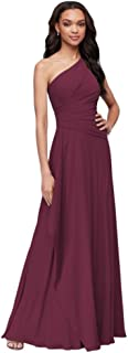 Georgette One-Shoulder Cascade Bridesmaid Dress Style F19832