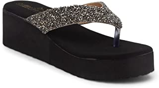 Butterflies Steps Latest Collection, Comfortable Wedges Sandal for Women's & Girl's(Grey)(GHS-0083GY)