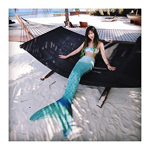 BMNN Meerjungfrau Schwanzflosse Kinder,Weiblichen Badeanzug Schwimmflossen for Strand,Pool,Party Meerjungfrau Schwanz (Color : Style J, Size : L)