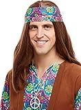 Funidelia   Colgante Hippie años 60 para Hombre y Mujer ▶ Años 60, Hippie, Flower Power, Décadas - Color: Gris / Plateado, Accesorio para Disfraz - Divertidos Disfraces y complementos