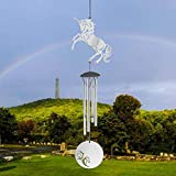 Aluminum Music Unicorn Wind Chimes, Outdoor Metal Wind Chimes with 4 Aluminum Tuning Tubes, Wall-Mounted Wind Chimes Used for Home Decoration of Yard and Terrace or Birthday Party