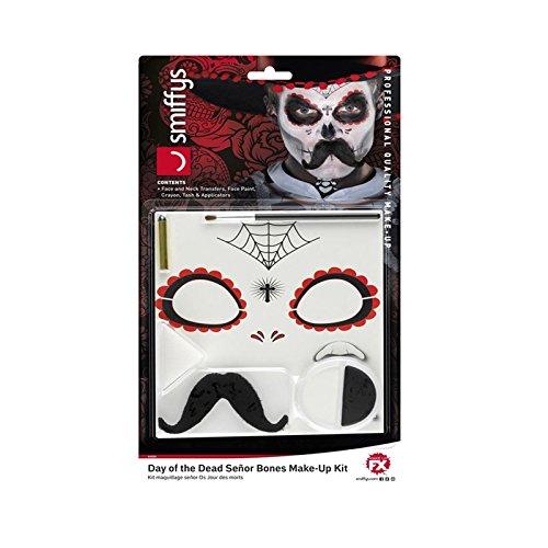 Kit de accesorios para disfraz de Halloween con esqueleto mexicano para el Da de los Muertos