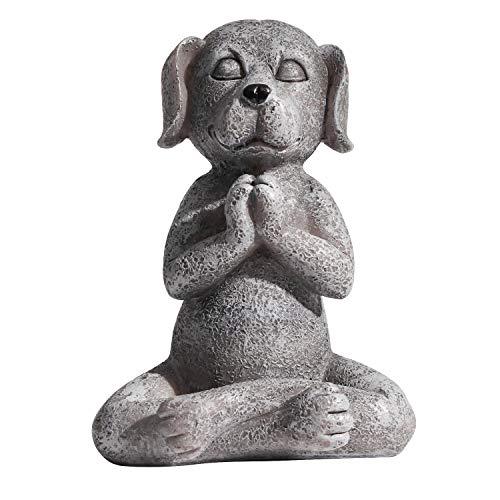 Dog Buddha Meditation Statue,Yoga Dog Garden Sculpture Collection Statue Home Indoor Outdoor Patio Lawn Decoration