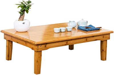 Coffee Table Nan Bamboo Floating Window Table Folding Table Rectangular Tatami Table Home Low Table Tables (Color : Beige, Size : 80 * 60 * 32cm)