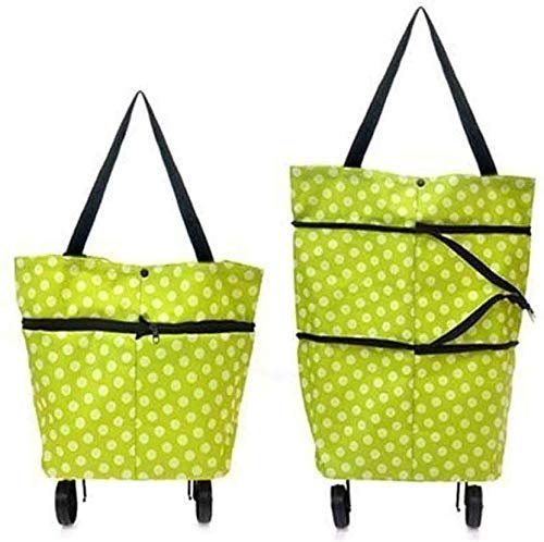 Deal Online Polyester Trolley Luggage Bags Traveling Vegetable Grocery Clothing Bag with...