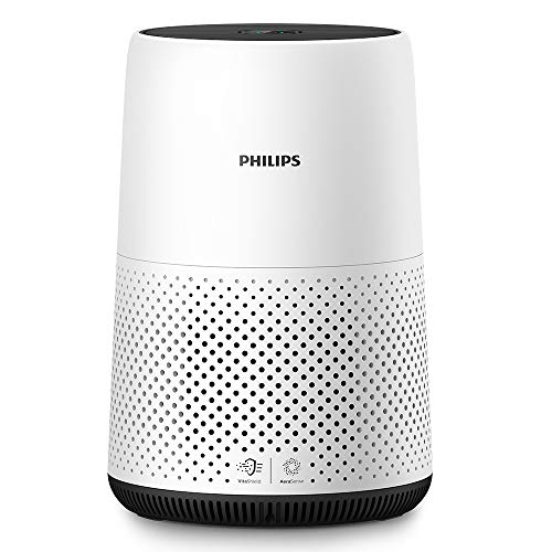 Philips Series 800 Compact Air Purifier for Small Rooms, Removes 99.5% of Ultrafine Particles, Real Time Air Quality Feedback, Anti-Allergen, Reduces Odours and Gases, HEPA Filter, 22 W, AC0820/30