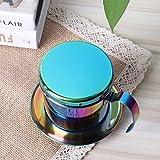 Kaffeemaschine, kompakter tragbarer, langlebiger Kaffeetropffilter, Edelstahl-Safe für das Home Office(Colorful)